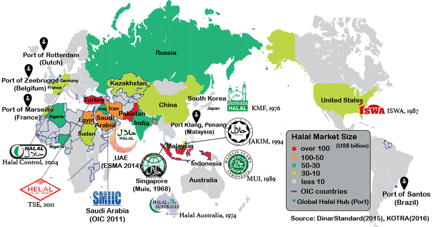 Global Halal World Map