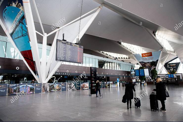empty airports globally